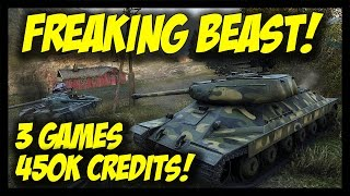 world of tanks beast mode 3 games 3 ace and 450k credits is 6 gameplay