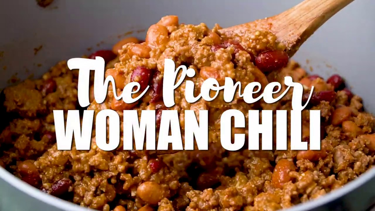 The Pioneer Woman Chili Youtube