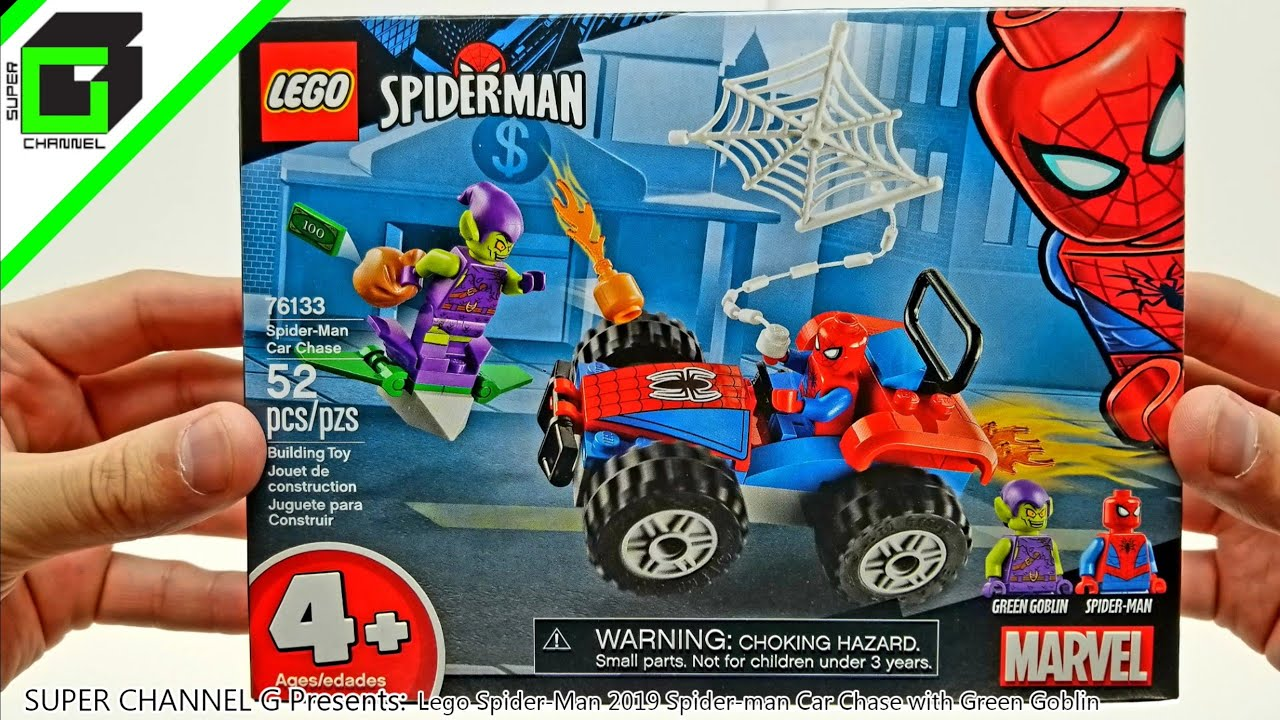 Lego Spider Man 2019 Spider man Car Chase with Green ...