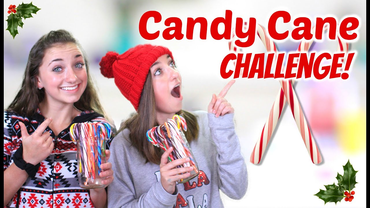 New channel candy cane challenge brooklyn amp bailey youtube