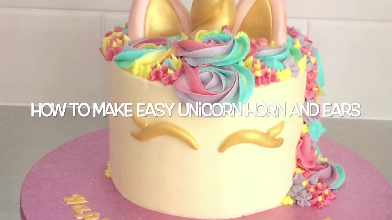 How To Make Easy Unicorn Horn And Ears Youtube