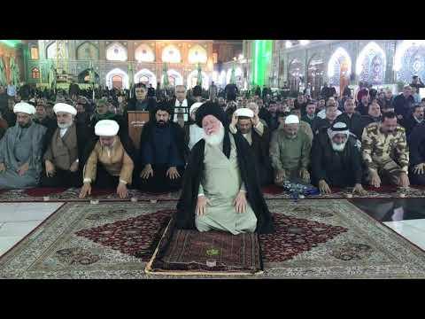 30 11 2019 صلاة العشاء للمرجع الصدر دام ظله في العتبة الكاظمية المقدسة