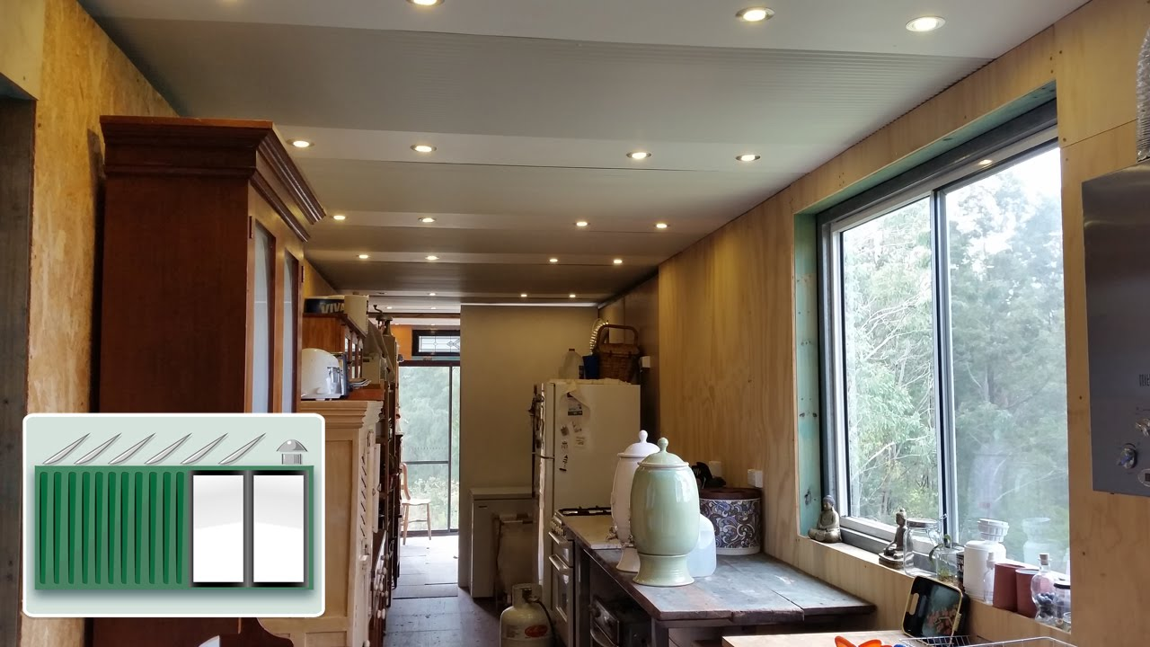Shipping Container House  Install a ceiling in shipping ...