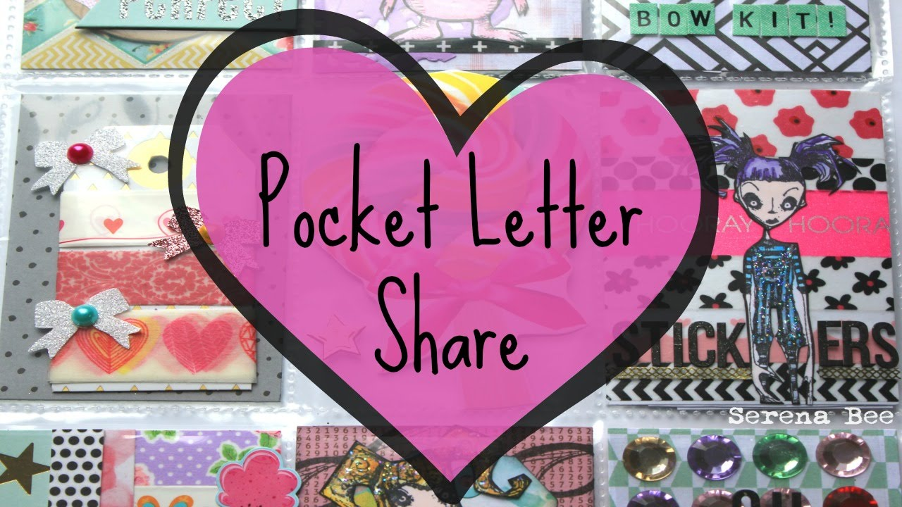 A Pocket Letter Tutorial Start To Finish  Serena Bee  YouTube