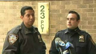 NYPD officers rush into smoke filled NYCHA building to rescue residents