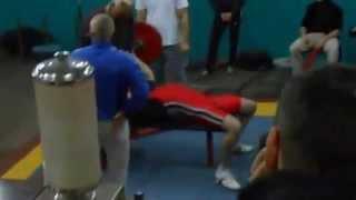 Жим лежа 110 кг. Первые соревнования (универсиада 2014 г. жим 110 кг)