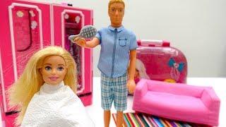 The Barbie Salon. Barbie's Hair & the Barbie Spa