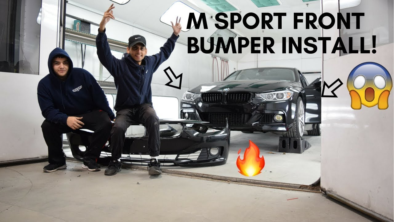 M Sport Front Bumper Install Bmw F30 Youtube