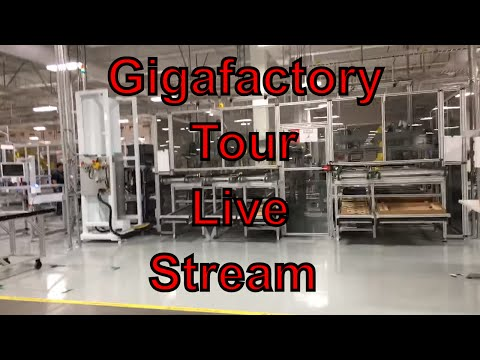 Tesla Gigafactory Factory Tour! LIVE 2016 Full Complete Tour