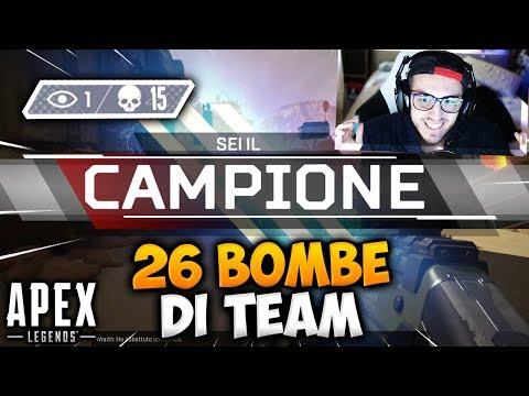 26 BOMBE DI TEAM SU APEX LEGENDS! LA MIA MIGLIOR PARTITA FINO AD ORA!