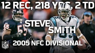 Steve Smith Torches Bears in the '05 NFC Divisional with Career-High 218 Yards   NFL Highlights