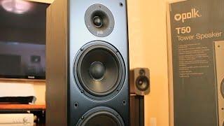 Gambar cover Polk Audio T50 Tower Speakers Sound Demo, Rock