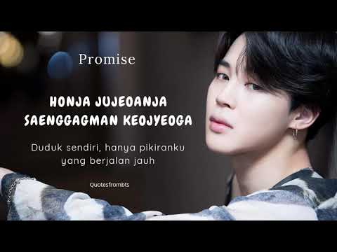 BTS Jimin - Promise (Lyrics Rom + Indo Subs)