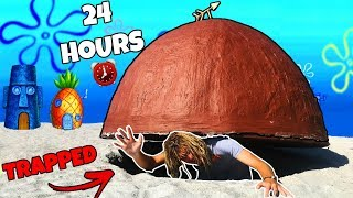 I Spent 24 Hours UNDER Patrick Stars House (GONE WRONG)