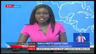 Raila Odinga receives defectors from Kajiado and West Pokot at the Orange House