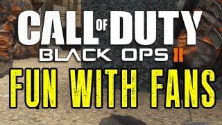 Black Ops 2 - Having Fun With Fans (Hiding Tactics, Statue Men)