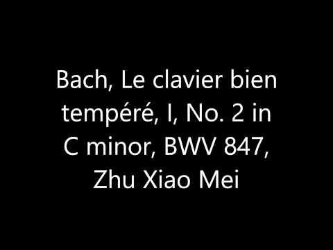 Bach, Le clavier bien tempéré, I, 2, Zhu Xiao Mei