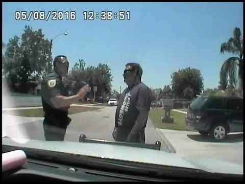 PBSO Corrupt Cop Miller Scripted Dash Cam Video For Felony Setup