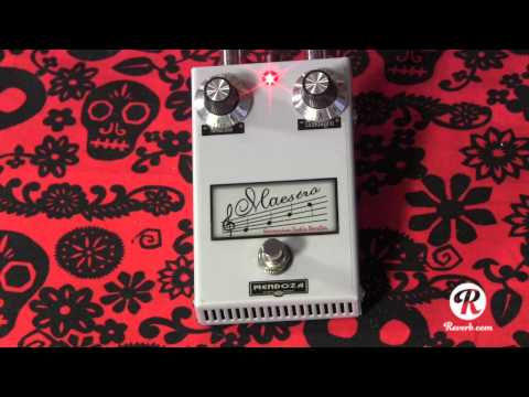 Mendoza Maestro germanium treble booster pedal demo with Kingbee Tele