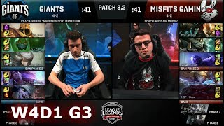 Giants vs Misfits | Week 4 Day 1 of S8 EU LCS Spring 2018 | GIA vs MSF W4D1 G3