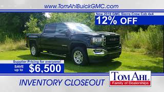 12% OFF a New Sierra Truck at Tom Ahl Buick GMC