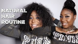 MY BIG NATURAL CURLY HAIR ROUTINE!