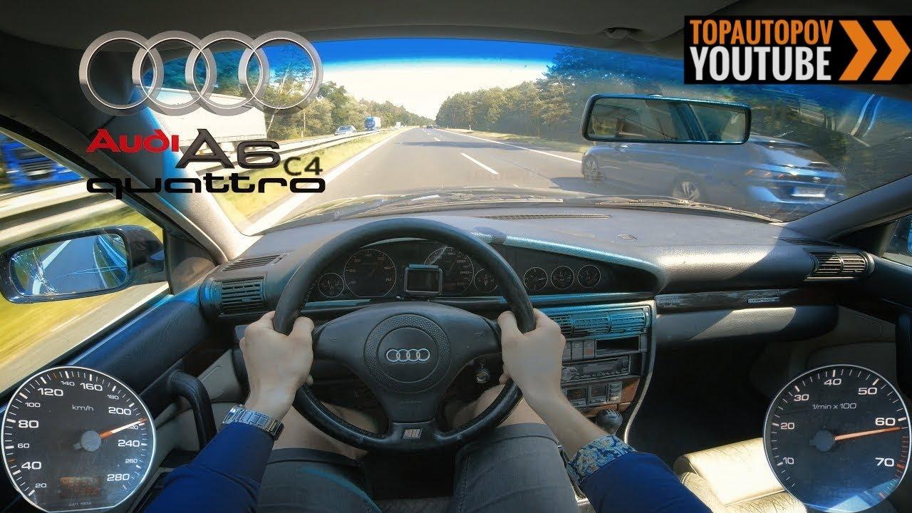 Audi A6 C4 2.6 V6 (110kW) | 4K TEST DRIVE POV - SOUND, ACCELERATION & DIRTY DRIFT?!  #TopAutoPOV