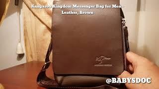 Kangaroo Kingdom Messenger Bag for Men - Leather, Brown