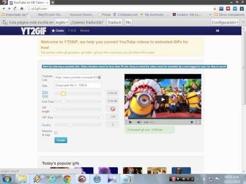 Convertidor Online de Videos de Youtube a Gif Animados