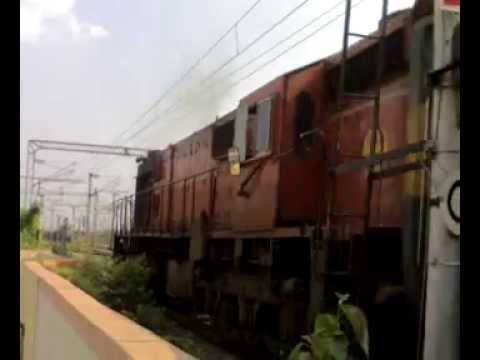 "Strange - Orange ""Rebuilt WDM3D"" Chugs Hard With Guwahati Garib Rath!!!"