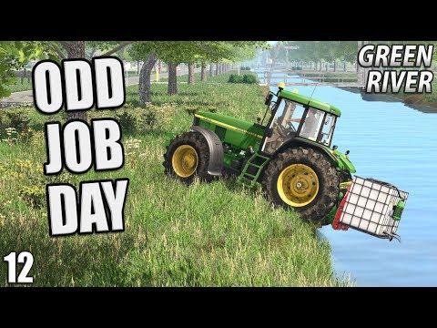ODD JOB DAY | Farming Simulator 17 | GreenRiver - Episode 12
