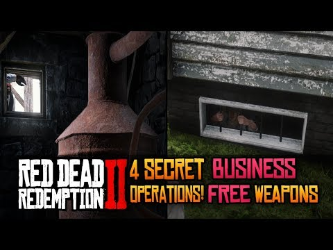 FREE LANCASTER REPEATER + MORE! 4 Secret Business Operations Locations In Red Dead Redemption 2