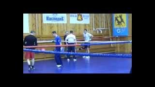 Тренировка боксеров сборной России по боксу