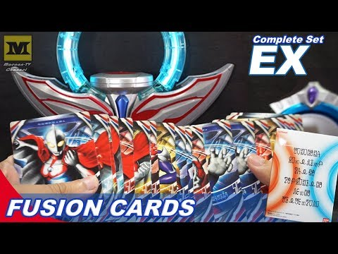 DX ORB RING : Ultra Fusion Cards Complete Set EX (Ultraman Cards) Premium BANDAI