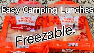 Food Friday // Easy Camping Lunches // August 2018