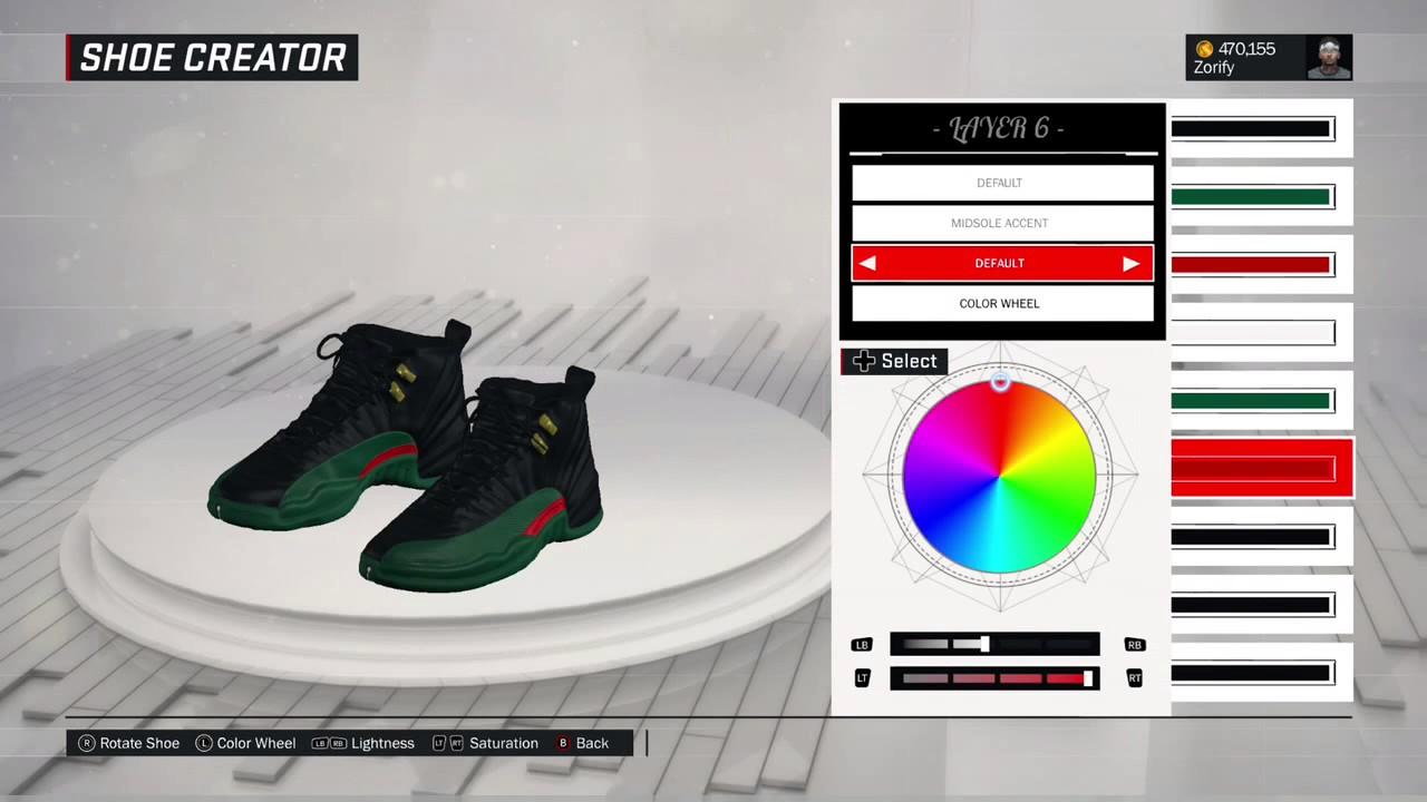 factory price 3ae8f 25660 NBA 2K17 Shoe Creator - Air Jordan 12 Custom