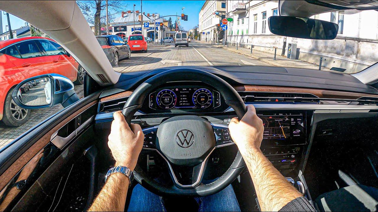 NEW Volkswagen Arteon 2021 (2.0 TSI 190 HP)   POV Test Drive #699 Joe Black