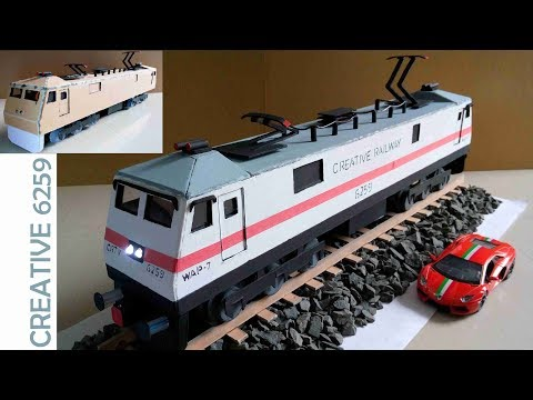 How To Make A Train Engine |Electric (DC) Motor |Using Cardboard | DIY Scale Model |RC Train (WAP7)
