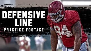 Watch Da'Ron Payne and the Alabama Defensive Line at Spring Practice