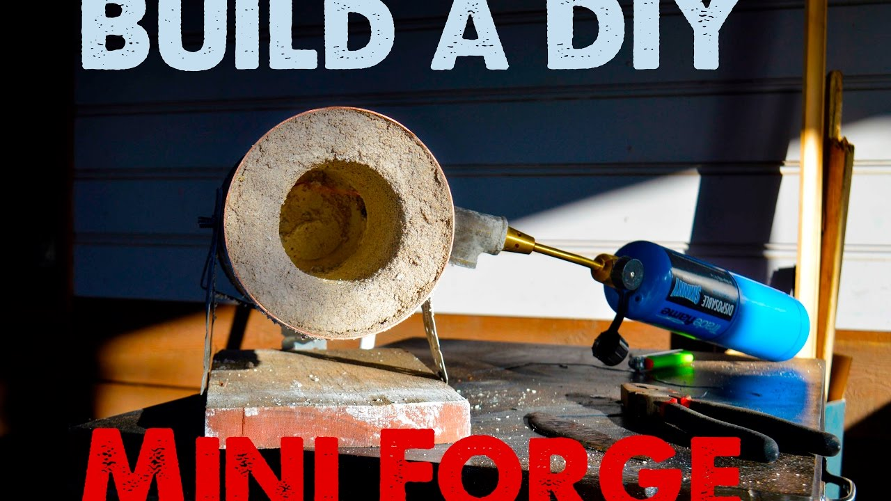 build a mini forge great for heat treating knife blades youtube. Black Bedroom Furniture Sets. Home Design Ideas