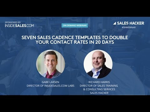 Seven Sales Cadence Templates to Double Your Contact Rates in 20 Days