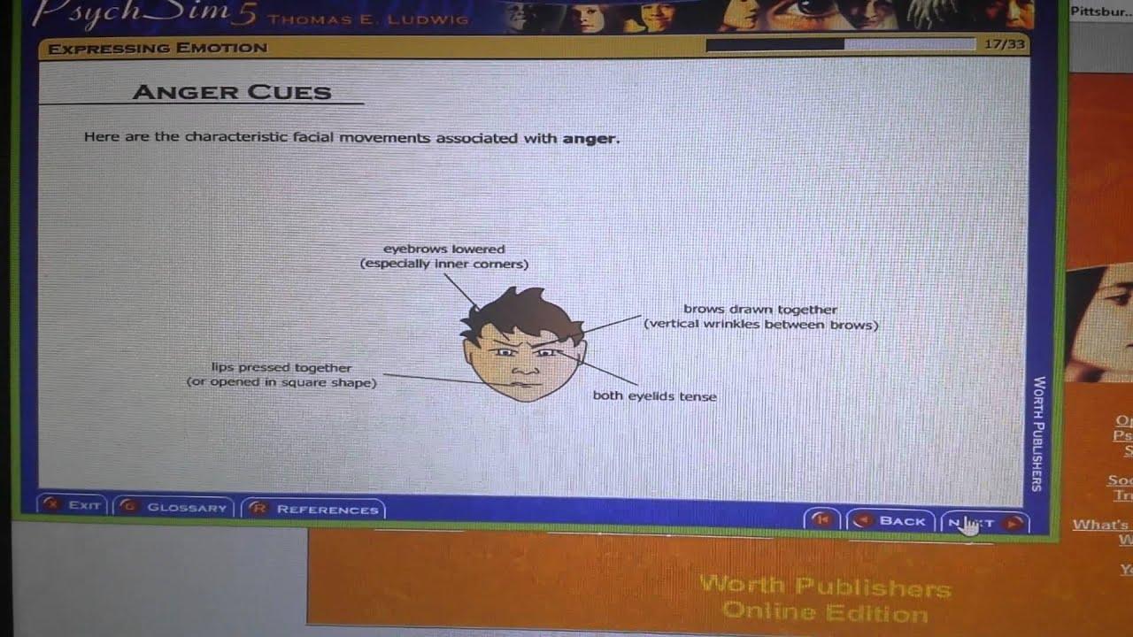 Psychsim5 Expressing Emotion YouTube – Psychsim 5 Worksheets