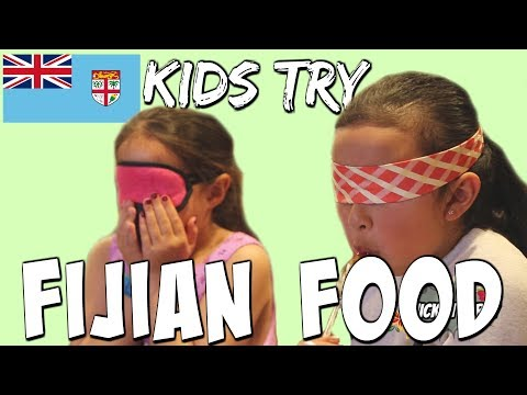 Kids Try Fijian Food! FIJIAN LANGUAGE WEEK 2018