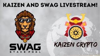 Kaizen Crypto & Swag Stake Pool Cardano Livestream - Shelley, Goguen, ADA Rewards, SPO's