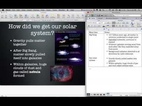 Formation of the Solar System Notes