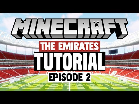 Minecraft Stadium Builds: Emirates Stadium [2] Pitchside