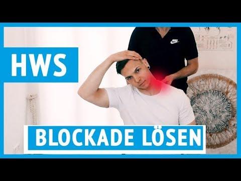 HWS Blockade selbst lösen   Übungen für zu Hause #blockade