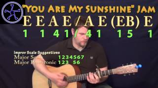 You Are My sunshine Jam in E Major - Acoustic Guitar Instrumental