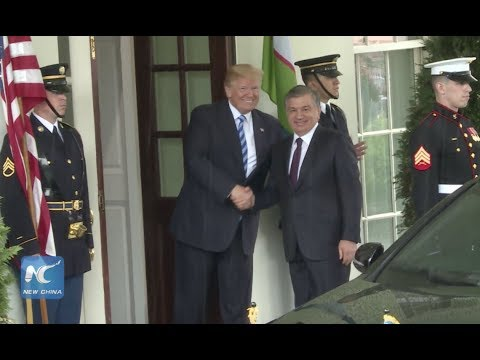 U.S. President Donald Trump welcomes President of Uzbekistan Shavkat Mirziyoyev at White House