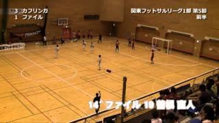 関東フットサルリーグ1部 第5節 カフリンガ東久留米vsファイルフォックス